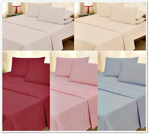 100% BRUSHED COTTON THERMAL FLANNELETTE FITTED BED SHEET HEAVY WEIGHT 150GSM