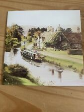 Job Lot Bundle Of 9 Wrapped Blank Greetings Cards - Canal Barge Scene