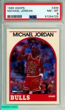 1989 HOOPS MICHAEL JORDAN #200 HOF CHICAGO BULLS PSA NM-MT 8