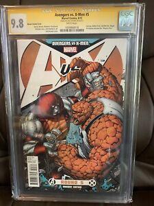 X-Men vs Avengers 5 CGC 9.8 Signed Dale Keown 2012 DEADPOOL Wolverine Blu Ray