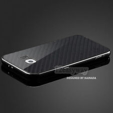 Luxury Aluminum Metal Carbon Fiber Cover Case For Samsung Galaxy S6 / S6 Edge