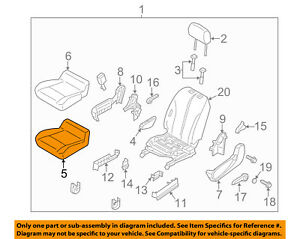 Chevrolet GM OEM 15-16 City Express Driver Seat-Foam Cushion Pad 19317568