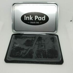 Black ink Stamps Pad for Paper Wood Fabric Craft black STAMP