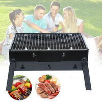 BBQ Barbecue Grill Folding Portable Charcoal Camping Garden Outdoor Travel Party