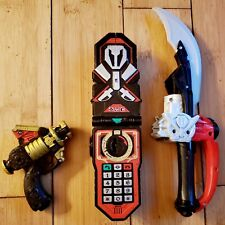 LOT OF 3 POWER RANGERS TOYS PHONE, SABER, BLASTER