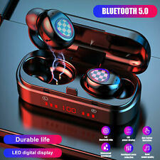 Bluetooth 5.0 Headset TWS Wireless Earphones IPX4 Mini Earbuds Stereo Headphones