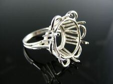 5490  RING SETTING STERLING SILVER, SIZE 6, 17 MM ROUND STONE