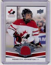 REBECCA JOHNSTON 14/15 Upper Deck Women's Team Canada Juniors Rookie Jersey #205