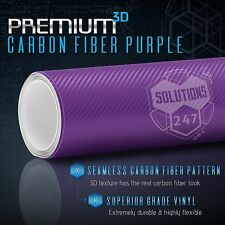 "60"" x 96"" In Vinyl Wrap Bubble Free Air Release 3D Purple Carbon Fiber Matte"