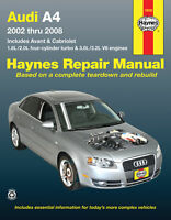Audi A4 Sedan, Avant, & Cabriolet 2002-2008 Repair Manual