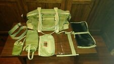 Kathy Van Zeeland Faux Leather Purse Baby Diaper Bag & accessories Green used