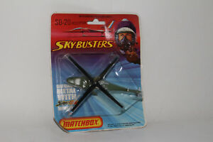 MATCHBOX SKY BUSTERS #SB-20 U.S. ARMY MILITARY HELICOPTER CHOPPER, NEW IN BOX