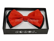 NEW Black/Red Tuxedo Classic Clip-On BowTie Neckwear Adjustable Bow Tie