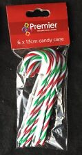 6 x Christmas plastic Candy Canes Tree Decorations Arts & Crafts FREE P&P