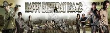 The Walking Dead Personalized Custom Name Poster Birthday Banner 8.5x30 - Gift