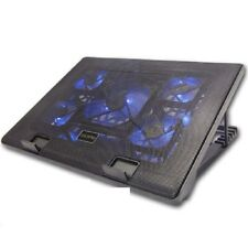 """New 5 Fan Adjustable Laptop Cooler Cooling Pad Fan Stand 2 USB Port For 9 to17"""""""