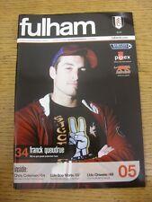 16/10/2006 V Charlton Athletic Fulham. gracias por ver este artículo, Compre Con