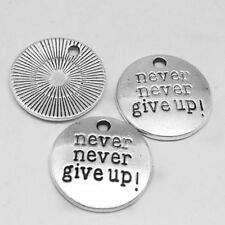 Never give up,Charm Silver Alloy Pendant,Jewelry Finding Making Diy Accessories