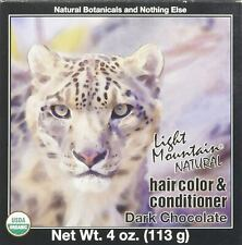 Natural Hair Color & Conditioner Dark Chocolate by Light Mountain, 4 oz