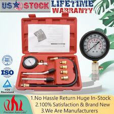 Cylinder Compression Tester Test Tool Kit Professional Mechanics Gas Diagnostic