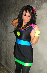 Funki-B sexy baggy dress clubwear lots of colours rave outfit neon bright cyber
