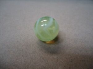 Vintage German Yellow U. V.  & White Wire Pull Marble   5/8   Mint +  Circa 1960