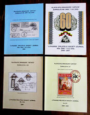 """Four Back Issues of the """"Lithuania"""" Philatelic Society's Journals, 2006 - 2009"""