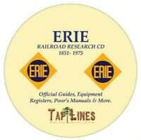 ERIE RAILROAD OFFICIAL GUIDES,  EQUIPMENT REGISTERS & RESEARCH ON DVD