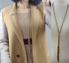Fashion Women Charm Gold Long Sweater Chain Necklace Pendant Jewelry Gift UK