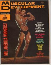 MUSCULAR DEVELOPMENT bodybuilding muscle magazine/RON MARGASON 9-66