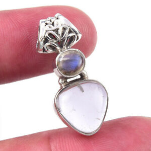 Birthday Gift For Her Aquamarine Gemstone Pendant Sterling Silver Jewelry AA6012