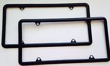 2pc Black License Plate Frame fits Chevrolet For Rear and Front