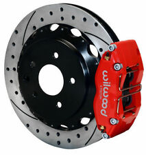 "WILWOOD DISC BRAKE KIT,REAR,FITS 03-13 NISSAN 350Z,370Z,G35,G37,13"" DRILLED,RED"
