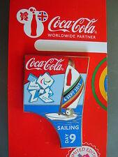 COCA COLA PIN BADGE - LONDON 2012 - DAY 9 SAILING PARALYMPICS - MOC
