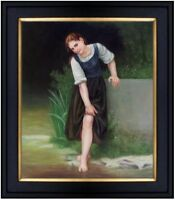 Framed Hand Painted Oil Painting Repro William Bouguereau The Ford 20x24in