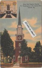 1940s SUFFOLK, VA, WEST END BAPTIST CHURCH POSTCARD #3