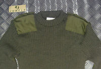 Genuine British Green Commando Wool Mix Jumper. Crew Neck Very Warm All Sizes G2