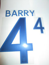 Barry no 4 England Home Football Shirt Name Set Adult Sporting ID