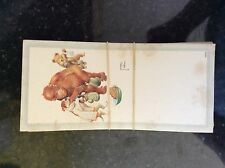 a2G ephemera 1930s card bonzo the monkey and dog lawson wood