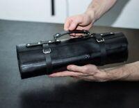 Leather knife roll, Leather knife case, Chef knife roll, Knife bag, Knife holder