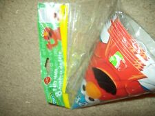 ELMO YIPEE BAG OF 8 PARTYM HATS FOR BIRTHDAY PARTIES BY DESIGNWARE