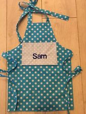 New Style .Personalised Toddlers Apron Polka Dot , Boys . Christmas 🎁