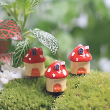 Micro Mini Gnome House Mushrooms Miniature Fairy Garden Dollhouse Pot Ornaments