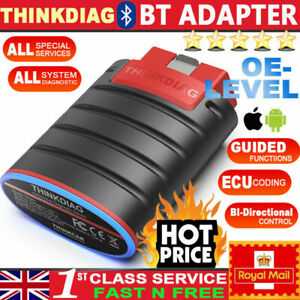UK THINKDIAG Car OBD2 Diagnostic Scanner Bluetooth Fault Code Reader ABS Service