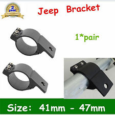 41mm - 47mm Bull Bar Roll Cage Tube Mount Bracket Clamp LED HID Offroad DEAL