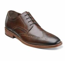 FLORSEIM MEN'S GENUINE LEATHER CASTELLANO WINGTIP OXFORDS BROWN DRESS SHOES