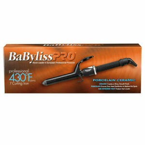 """NEW!!! BABYLISS PRO 1"""" PORCELAIN CERAMIC SERIES 430° SPRING CURLING IRON BP100S"""