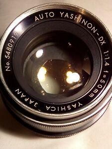 Auto Yashinon-DX 50mm f1.4 M42 (Ser.# 5480919) Prime Lens