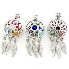 3PCS MIX Dream Catcher Beads Cage Locket Pendant Floating Charms