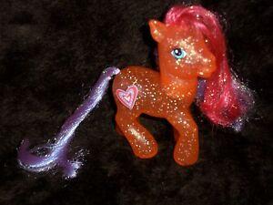✿✿My Little Pony Tangerine Twinkle Orange Clear Glitter Heart Sparkles Horse ✿✿